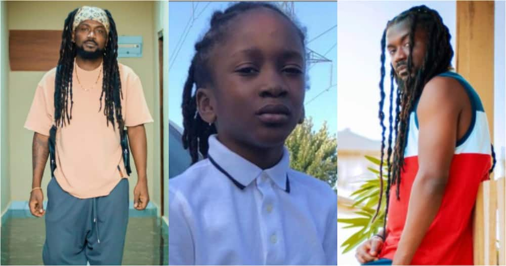 Samini drops adorable photos of his youngest son to celebrate his 9th birthday