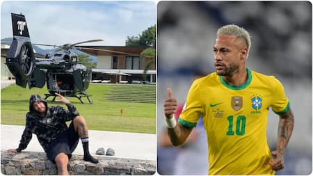 Neymar flaunts £10m private helicopter during summer break after Copa America
