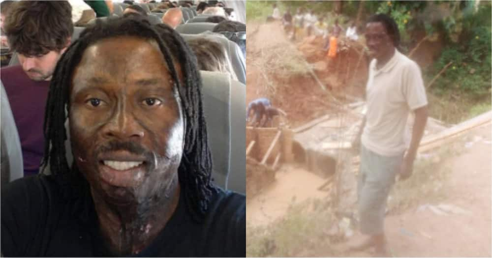 Election 2020: Kwaku Bonsam funds the construction of a bridge at Offinso North