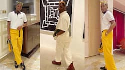 Money and swag: 5 recent photos of Despite's son showing off in expensive outfits
