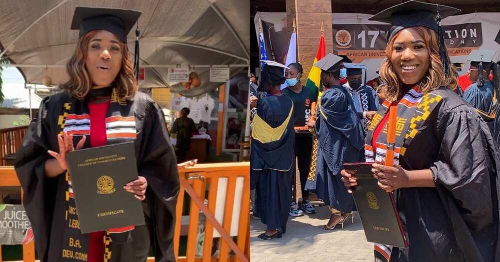 Victoria Lebene graduates from AUCC