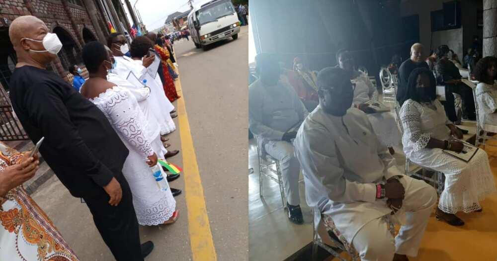 Prof Naana Jane, Alabi, other represent NDC at TB Joshua's funeral in Nigeria
