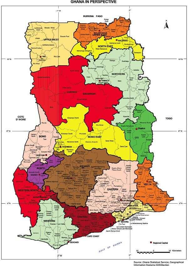 Newly created regions