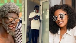 Funny video drops as Lil Win bombards Nana Aba Anamoah with 'Twinglish' in her office