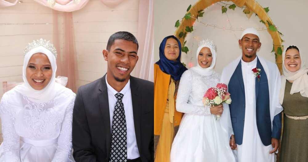 Forget shotgun wedding, bride and groom have drive-by wedding