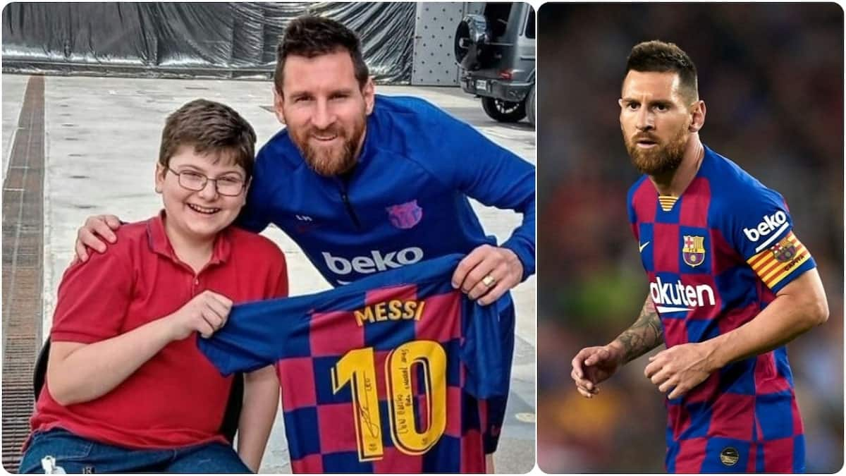 Lionel Messi meets Argentine youngster who's suffering from congenital pseudarthrosis illness
