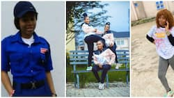 Pretty lady who worked as bank security now graduates from varsity; celebrates online