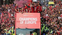 All red as fans troop out in thousands in Liverpool's Champions League victory parade
