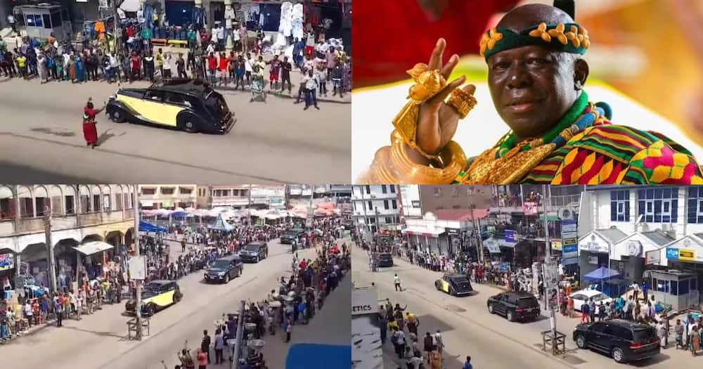 Otumfuo Osei Tutu Rides In 86-Year-Old Rolls Royce After Celebrating 22nd Anniversary As King (Video)