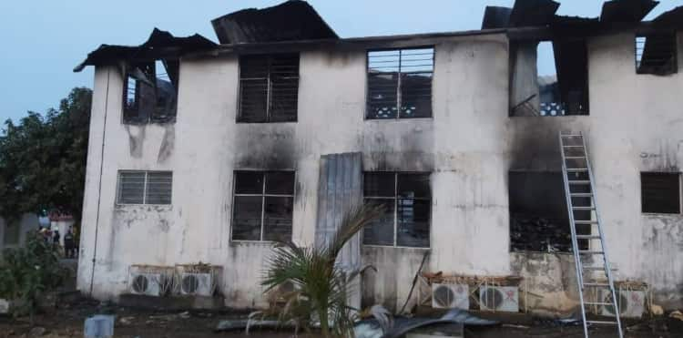 Electoral Commission's office in Accra gutted by fire