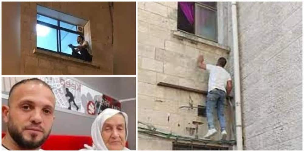 Man who scaled two stories of hospital building every night to watch over his sick mum until she died