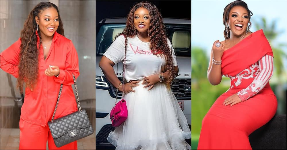 Jackie Appiah spotted without wig in new video; looks gorgeous