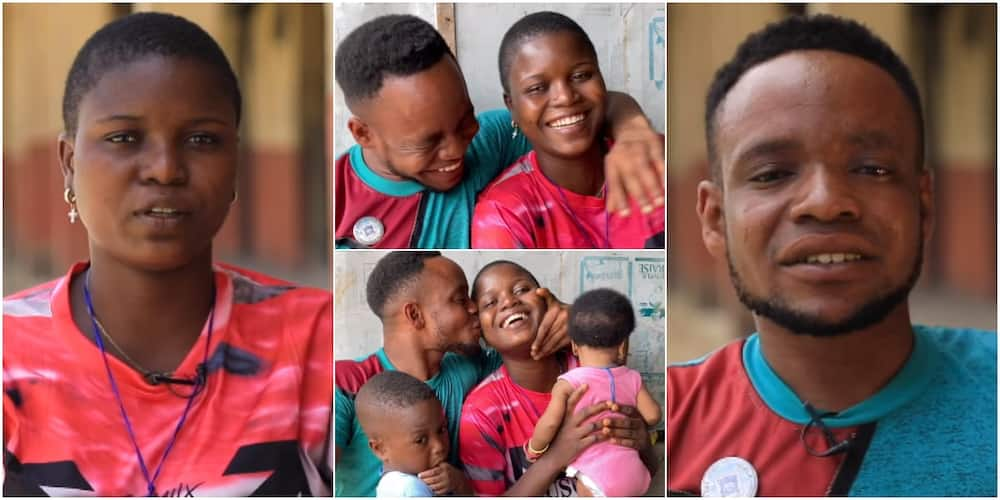 Wife of Physically Challenged Man who Danced Joyfully on Child's Dedication Says She Loves Him Unconditionally
