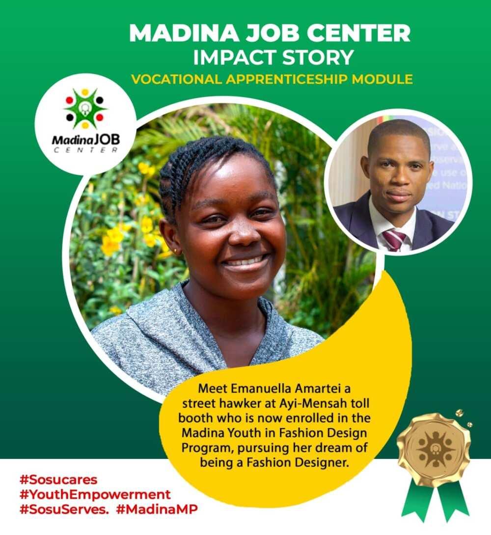 Madina MP's Youth Program Transforms Street Hawker into Fashion Designer
