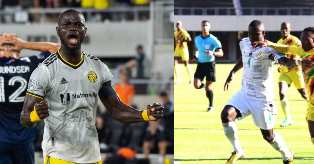 An excited Jonathan Mensah with Columbus Crew and Ghana. SOURCE: Twitter/ @ghanafaofficial @ColumbusCrew
