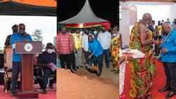 Photos drop as Akufo-Addo tours Central Region on a 2-day work visit