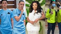 It's not nice at all - Fans jab Afia Schwar's son over tattoo of his mum at his back