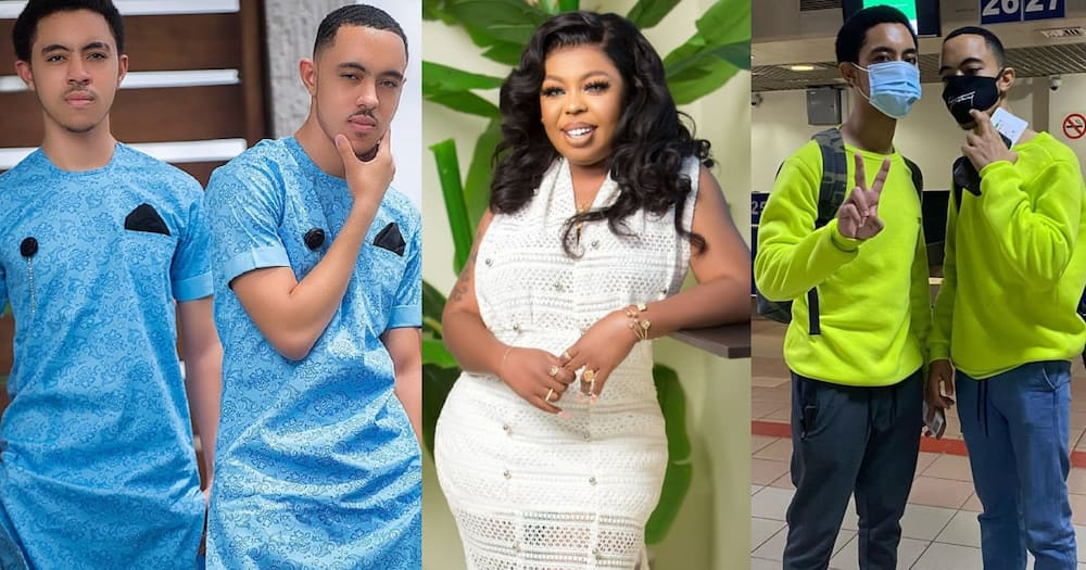 It's not nice at all - Fans jab Afia Schwar's son over tattoo of his mum at his back (photo)