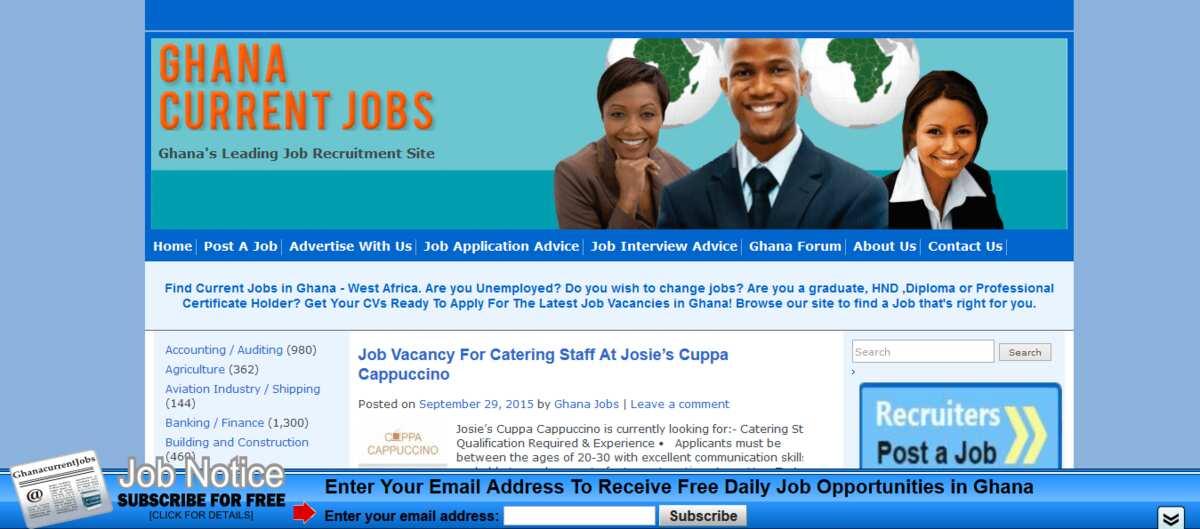 job vacancies in Accra