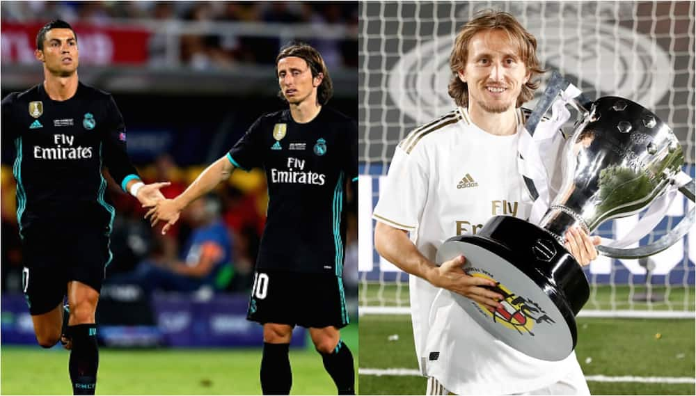 Luka Modric claims Real Madrid trophy drought would not last without Ronaldo