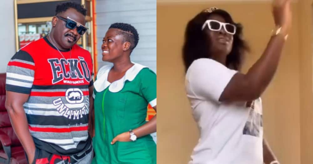 Asantewaa: Famous TikToker & daughter of Koo Fori buys own car; says she'll pick him up soon