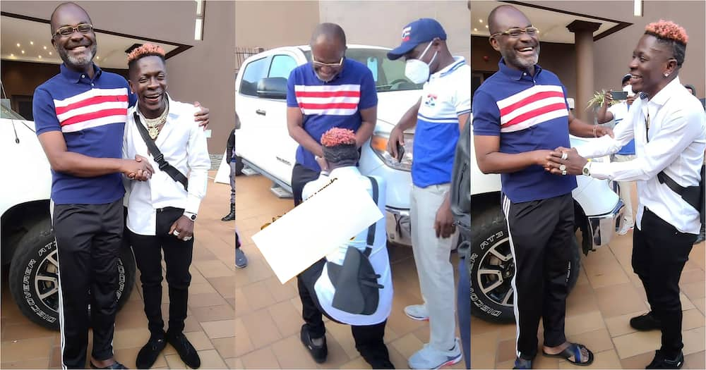 Shatta Wale meets Kennedy Agyapong in Kumasi; photos and video drop
