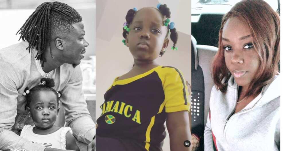 Jidula: Stonebwoy's Daughter won't Leave him Alone; Follows him Around in new Video