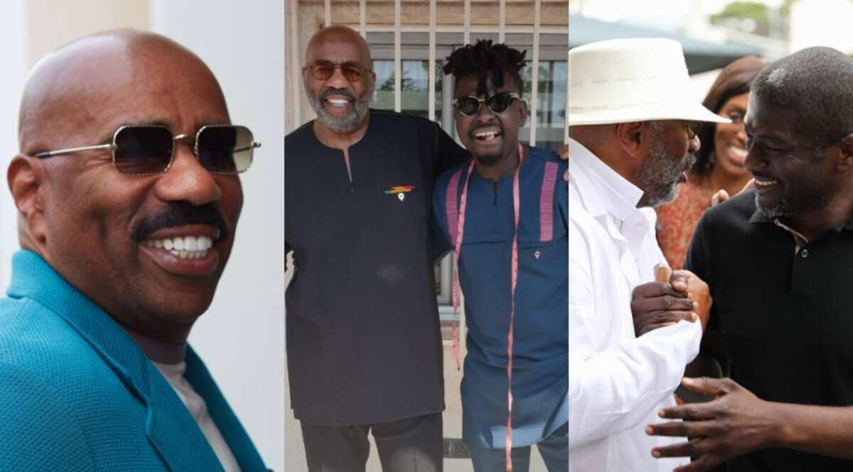 American TV star Steve Harvey arrives in Ghana with family to mark The Year of Return