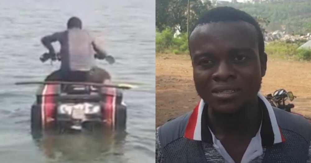 Abdul Aziz: Ghanaian inventor builds motorbike that runs on water