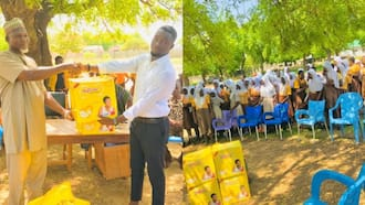 Students from Upper East contribute & donate 150 pads to basic school girls
