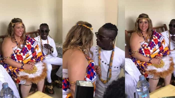 'Spininin': Patapaa discloses weird name for his unborn child with German wife