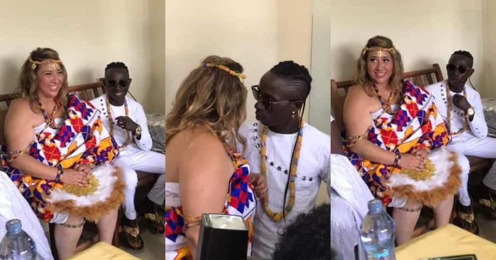 Spininin: Patapaa discloses weird name for his unborn child with German wife