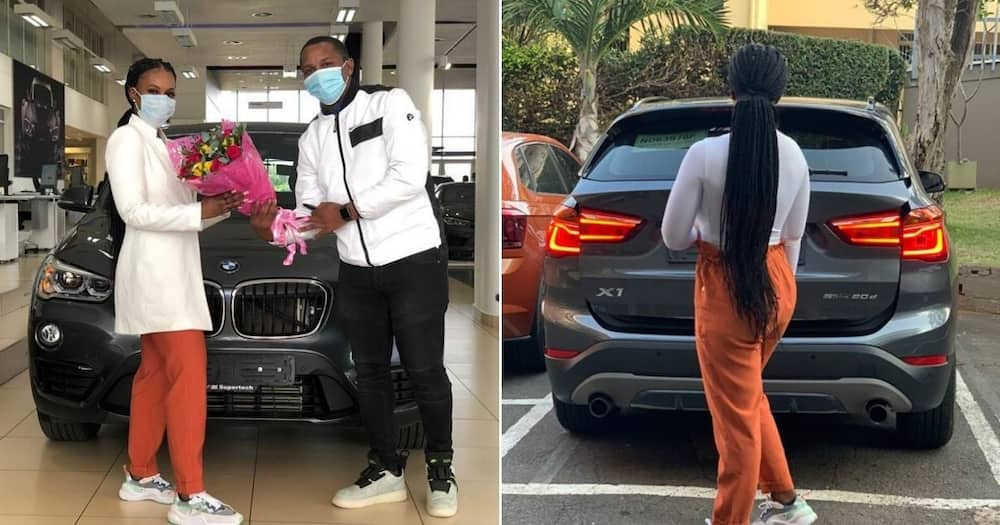 Beautiful woman who was afraid to drive buys herself a new BMW