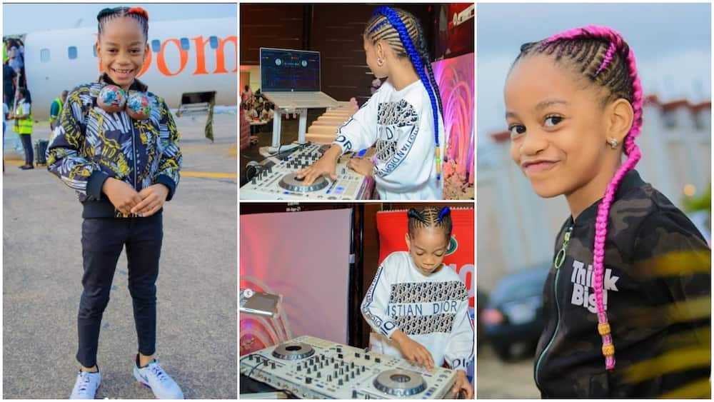 Amazing 6 Year Old Nigerian Kid Wows People with her DJ Skill, Video Performance Goes Viral