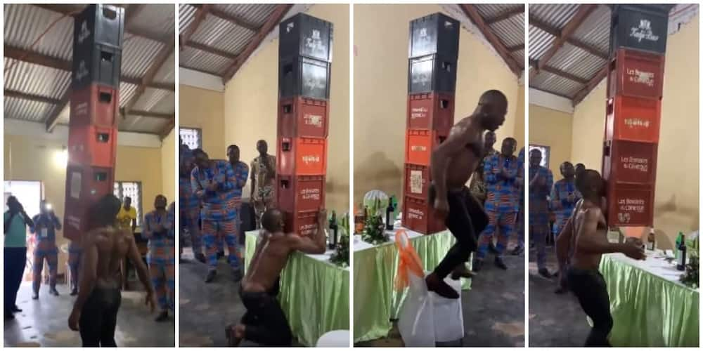 Social media reacts to viral video of man lifting 6 crates at once with just his teeth