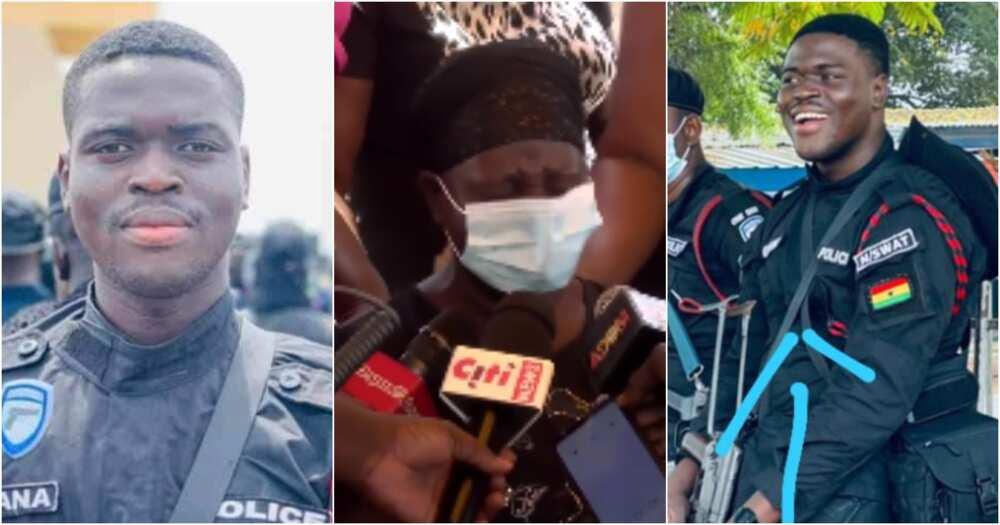 Emmanuel Osei: Poor mother of policeman who was killed in bullion van robbery speaks
