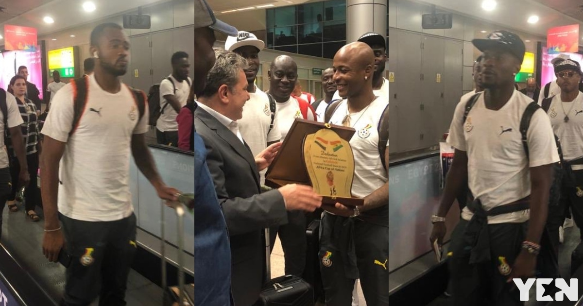 Beautiful photos and video drop as Black Stars arrive in Egypt ahead of 2019 AFCON opener