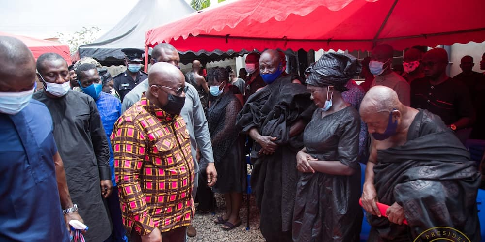 Photos drop as President Akufo-Addo visits family of the late Mfantseman MP