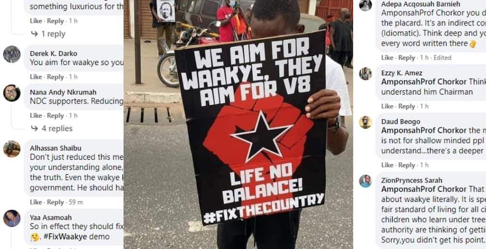 FixTheCountry: Placard of the day Pops up and Gets Many Massively reaction Source: TV3 Ghana