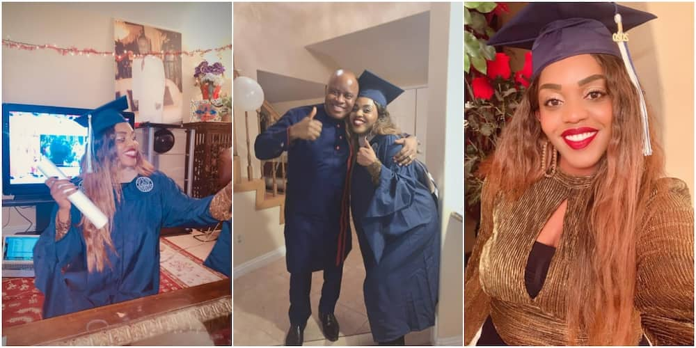Nigerian man gushes over daughter who bagged 2 first class degrees, 4.0 GPA in her MBA