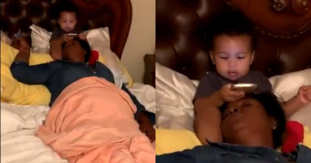 Little boy outsmarts sleeping grandma who was meant to be babysitting