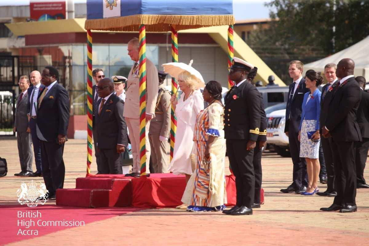 British Royals arrive in Ghana