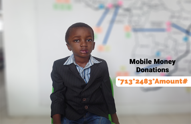 Christopher is a promising child from Ghana in need of $3,402 for a brain tumor surgery