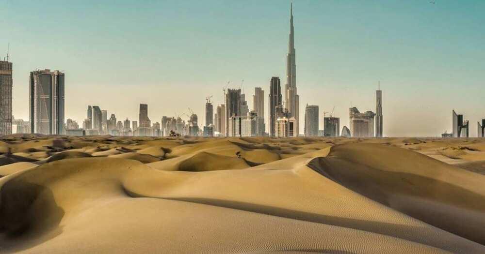 Scientists created fake rain in Dubai.