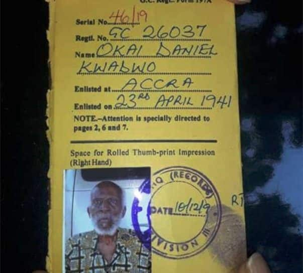 105-year-old Ghanaian veteran yet to get benefits for over 70 years after WWII (Photo)