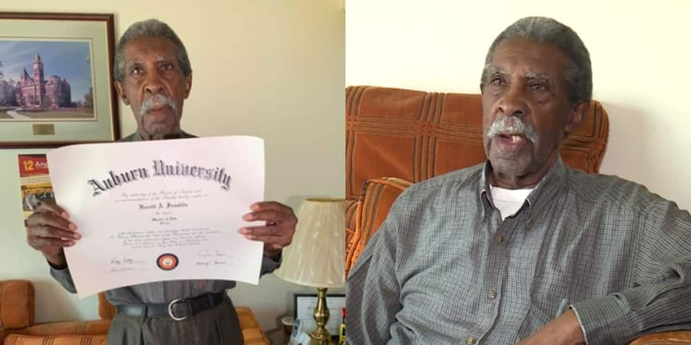 Determined Black man bags his master's degree at 86 after being prevented the first time (Video)
