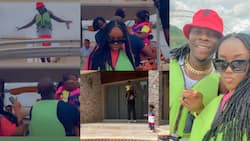 Lovely videos drop as Stonebwoy chills with his wife and kids on a weekend vacation