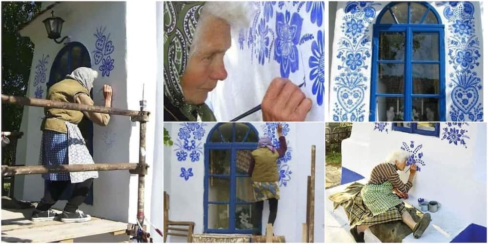 91 years old Woman Turns Small Village into Her Art Gallery, Wows Many with Adorable Images