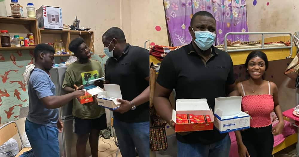 John Dumelo: Actor Presents Valentine's Day Gifts to Legon Students
