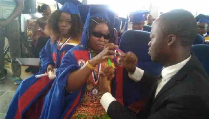 Deaf and blind student graduates with First Class at UEW